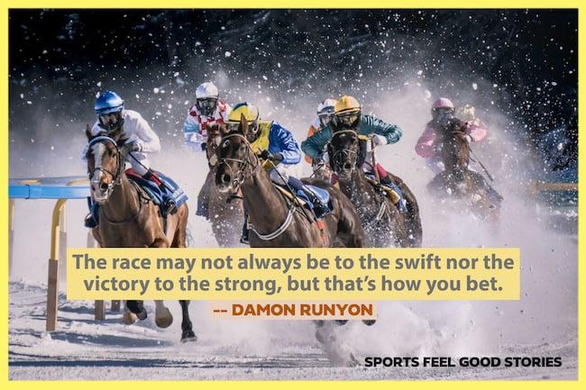 Damon Runyon Citation sur la façon dont vous pariez l'image
