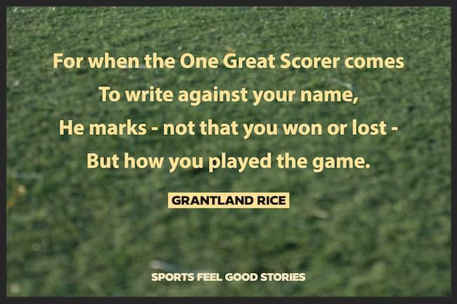 Citation de Grantland Rice sur l'image One Great Scorer