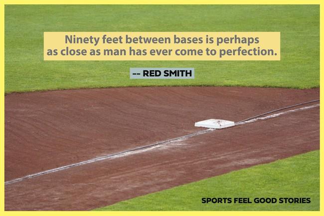 Red Smith célèbre sports citations sur l'image de baseball