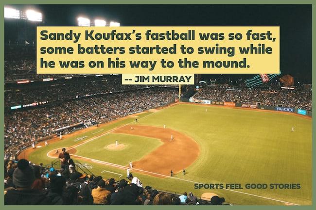 Image de citation de fastball de Sandy Koufax