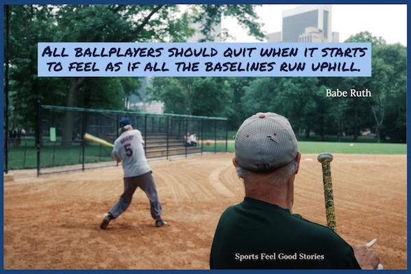 Babe Ruth cite quand arrêter de fumer