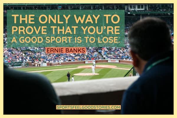 Ernie Banks cite être une bonne image sportive