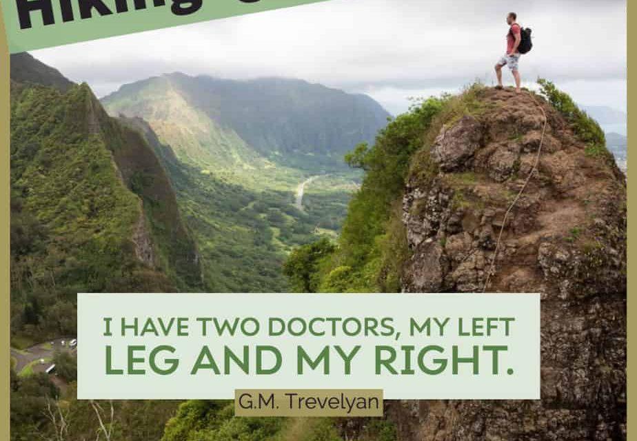 Citations sur la randonnée: inspirant, court, drôle
