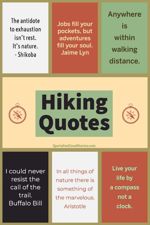 Image de citations de randonnée inspirantes
