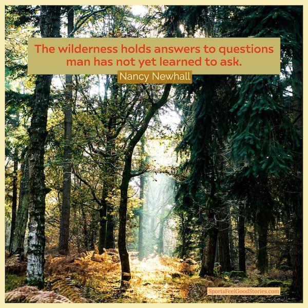 Citation de Nancy Newhall sur la randonnée à travers l'image du désert