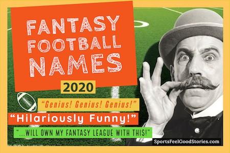 Bouton des noms de l'équipe de football fantastique drôle 2020