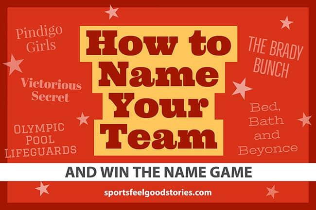 Nommer votre équipe et gagner l'image du jeu