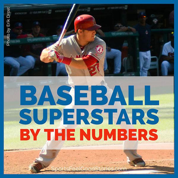 Les superstars du baseball par le titre des numéros