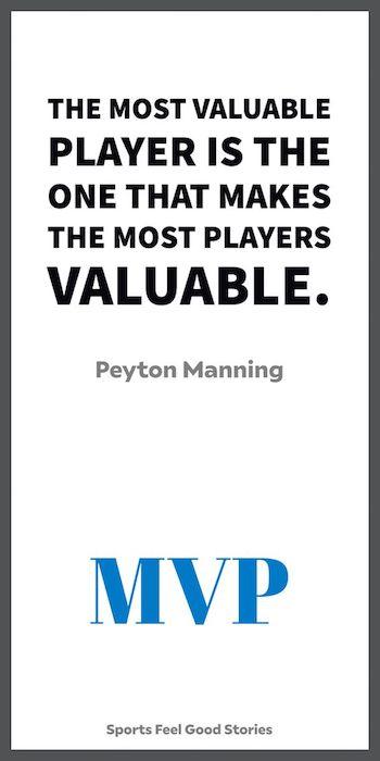 Peyton Manning sur ce que le MVP signifie pour lui