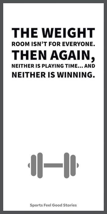 La salle de musculation n'est pas pour tout le monde meme - Citations inspirantes pour les athlètes
