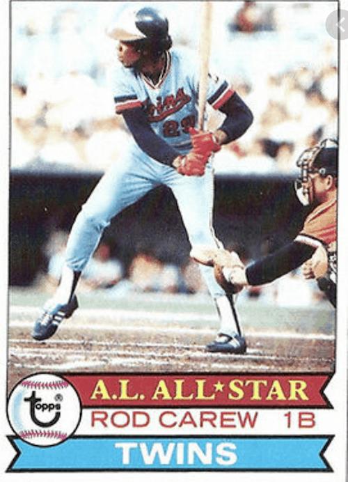 Rod Carew 1979 All-Star Baseball Card Team