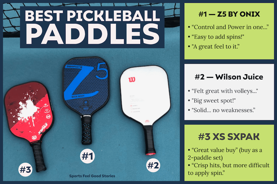 Meilleures pagaies de pickleball
