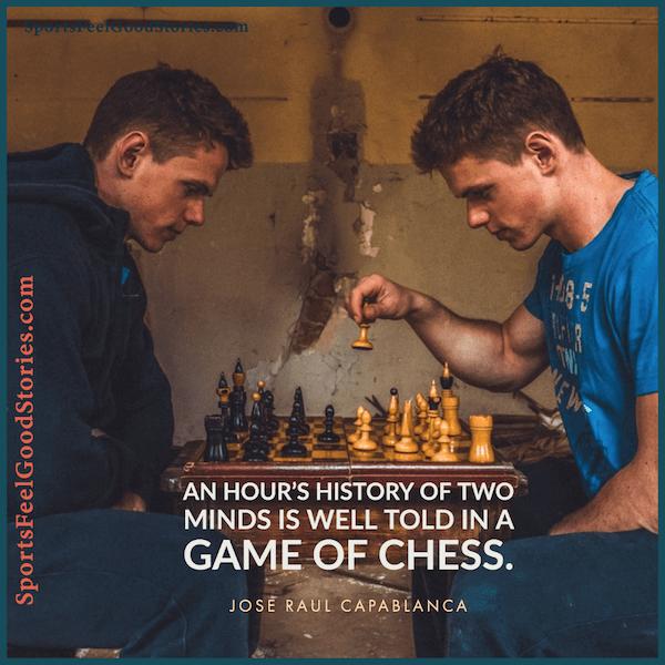 Une heure d'histoire de deux esprits - citations d'échecs