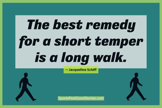 Le meilleur remède pour un tempérament court est un mème longue marche