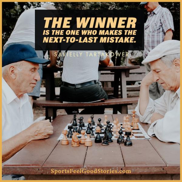 L'avant-dernière erreur - citations d'échecs