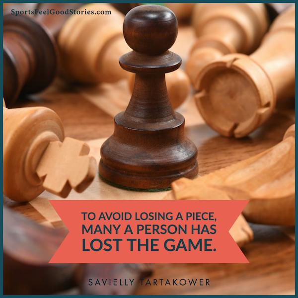 Pour éviter de perdre une pièce - de bonnes citations d'échecs