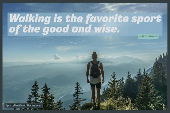 La marche est le sport préféré du mème bon et sage